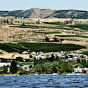 Apple Farming On The Hills Of Wenatchee Art Print