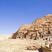 Archaeological Remains Of Petra Art Print