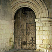 arched door at Fontevraud church Art Print