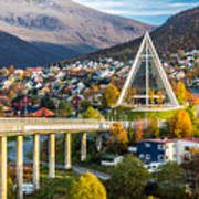 Arctic Cathedral In Tromso City In Art Print