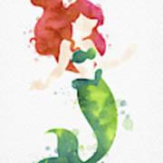 Ariel Watercolor Art Print