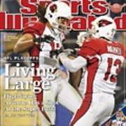 Arizona Cardinals Larry Fitzgerald, 2009 Nfc Divisional Sports Illustrated Cover Art Print
