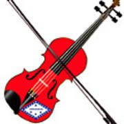 Arkansas State Fiddle Art Print