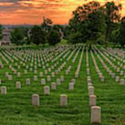 Arlington National Cemetery Sunrise Art Print