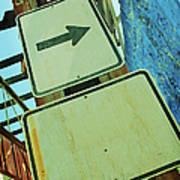 Arrow Sign Art Print