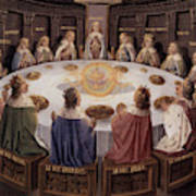 Arthurian Legend, The Knights Of The Round Table Art Print