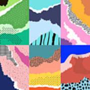 Artistic Background.modern Graphic Art Print