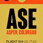 Ase Aspen Luggage Tag I Art Print