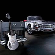 Aston Martin Custom Guitar And Amplifier Art Print