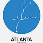 Atlanta Blue Subway Map Art Print