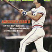 Atlanta Braves Dale Murphy... Sports Illustrated Cover Art Print
