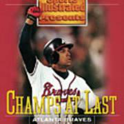 Atlanta Braves David Justice, 1995 World Series Sports Illustrated Cover Art Print