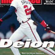 Atlanta Braves Deion Sanders... Sports Illustrated Cover Art Print