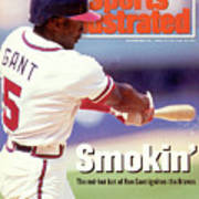 Atlanta Braves Ron Gant... Sports Illustrated Cover Art Print