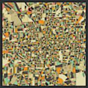 Atlanta Map 2 Art Print