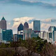Atlanta Skyline 2 Art Print