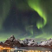 Aurora In Lofoten Art Print