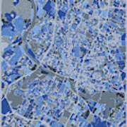 Austin Map Retro 5 Art Print