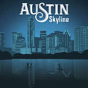 Austin Texas Skyline Art Print