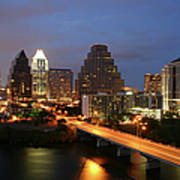 Austin Texas Skyline - Unique Art Print