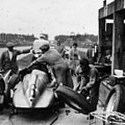 Auto Union In The Pits During A Grand Art Print