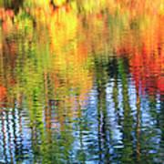 Autumn Color Reflection Art Print