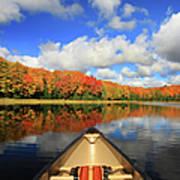 Autumn In A Canoe Art Print