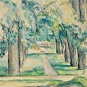 Avenue Of Chestnut Trees At The Jas De Bouffan  Art Print