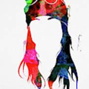 Axl Rose Watercolor Art Print