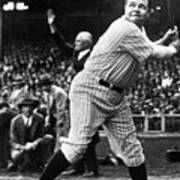 Babe Ruth Eye On Ball Art Print