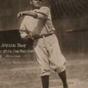 Babe Ruth Special Tour Postcard Art Print