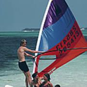 Bahamas Windsurfing Art Print