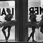 Ballerinas Standing On Window Sill In Art Print