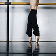 Ballet Holdiing Bar In Classic Pointe Art Print