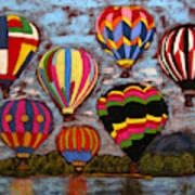 Balloon Family Art Print