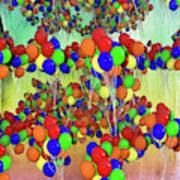 Balloons Everywhere Art Print