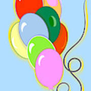 Balloons Of Loose Colors Art Print
