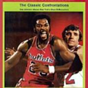 Baltimore Bullets Gus Johnson And New York Knicks Dave Sports Illustrated Cover Art Print