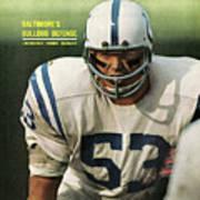 Baltimore Colts Dennis Gaubatz Sports Illustrated Cover Art Print