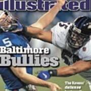 Baltimore Ravens Jamie Sharper, Super Bowl Xxxv Sports Illustrated Cover Art Print