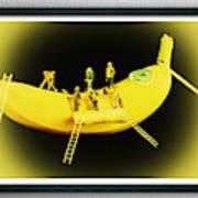 Banana Boat Mining Company Black Frame Art Print
