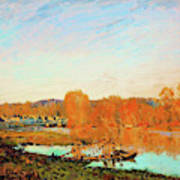 Banks Of The Seine Near Bougival - Digital Remastered Edition Art Print