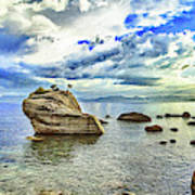 Bansai Rock, Lake Tahoe, Nevada, Panorama Art Print