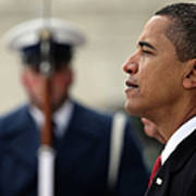 Barack Obama Is Sworn In As 44th Art Print