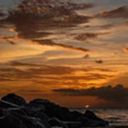 Barbados Sunset Clouds Art Print