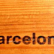 Barcelona Text Art Print