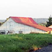 Barn With Red Roof Art Print