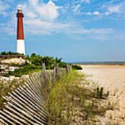 Barnegat Lighthouse, Sand, Beach, Dune Art Print