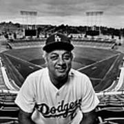 Baseball Manager Tommy Lasorda Portrait Art Print