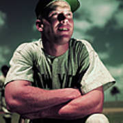 Baseball Player Mickey Mantle Art Print